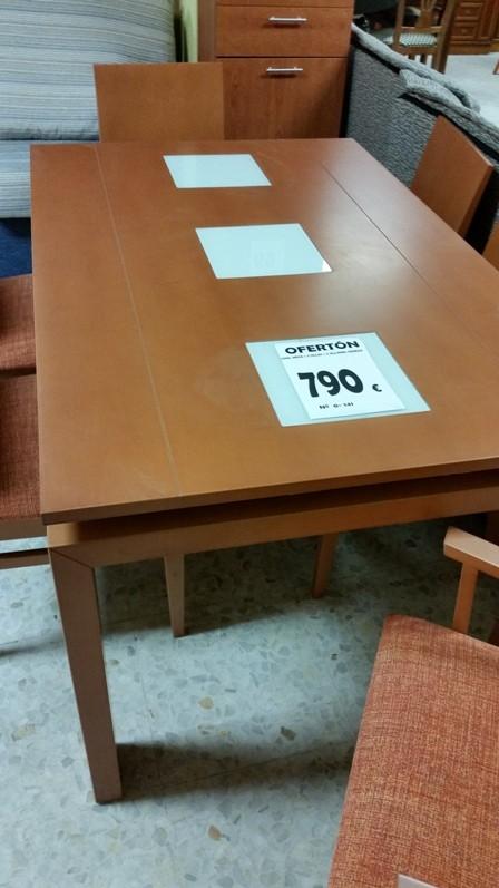 Oferton 90 0 141 conjunto mesa 4 sillas y 2 sillones for Muebles oferton