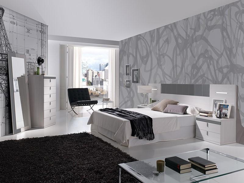 Dormitoriio matrimonio cabecero con led estilo moderno - Cabeceros con estilo ...