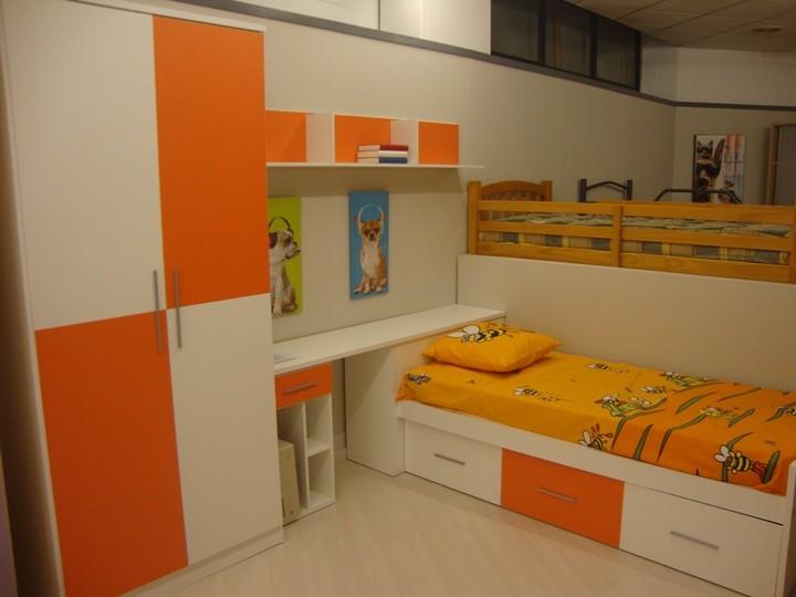 Dormitorio juvenil 143b de 290 x 238 cama nido color for Liquidacion camas nido