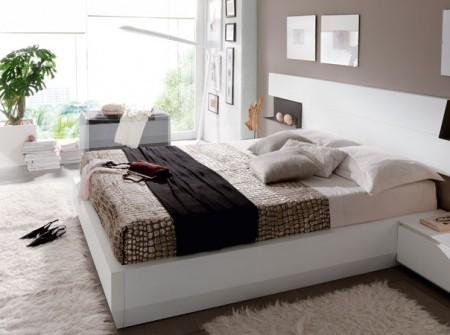 Dormitorio matrimonio moderno acabado lacas brillo chapas - Muebles rey dormitorios ...