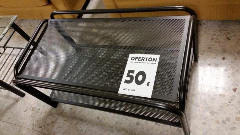 OFERTON-88 0-145 MESA CENTRO METALICA NEGRA (PRODUCTO SALDO)